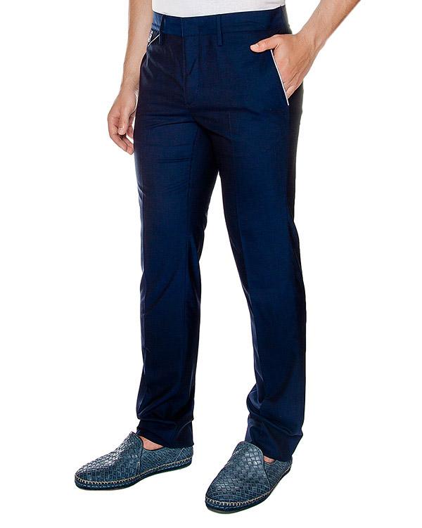 брюки прямого классического кроя из тонкой вирджинской шерсти артикул 913631 марки Cortigiani купить за 14100 руб.