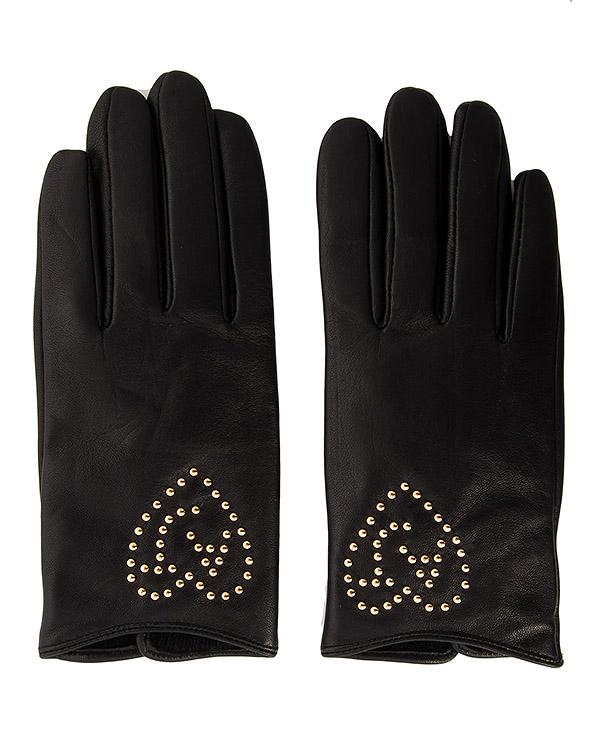 перчатки из натуральной кожи с металлическими клепками артикул 924044 марки ARMANI JEANS купить за 7100 руб.