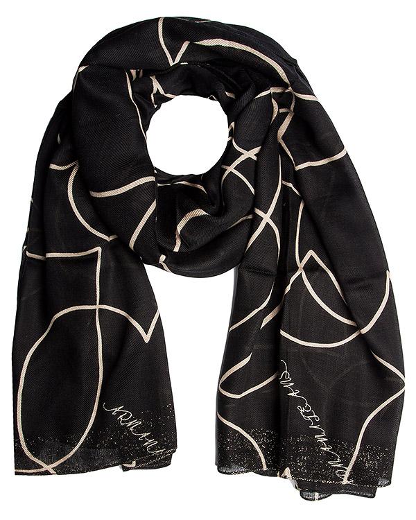 шарф из тонкой полушерстяной ткани с рисунком артикул 924048 марки ARMANI JEANS купить за 4000 руб.