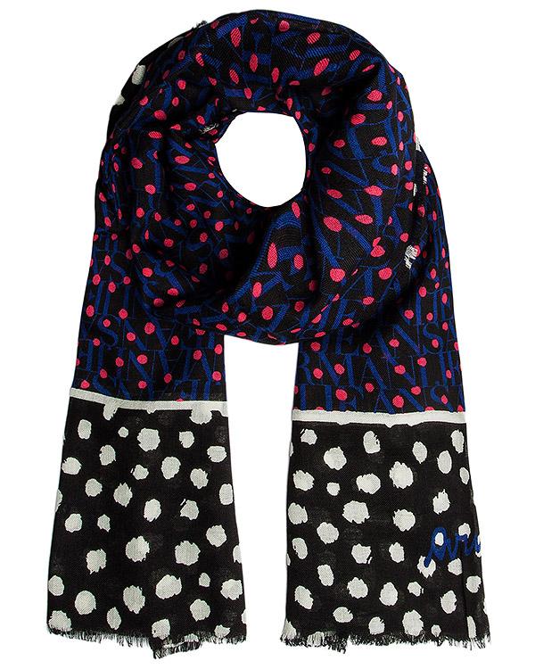 шарф из тонкой шерсти с рисунком артикул 924080 марки ARMANI JEANS купить за 5900 руб.
