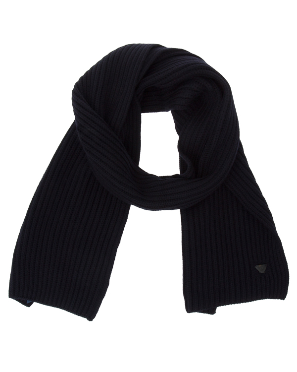 шарф из шерсти с логотипом бренда артикул 934028 марки ARMANI JEANS купить за 9900 руб.