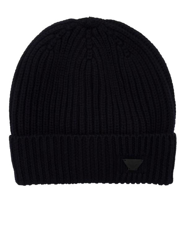 шапка из шерсти с отворотом артикул 934029-7A марки ARMANI JEANS купить за 5100 руб.