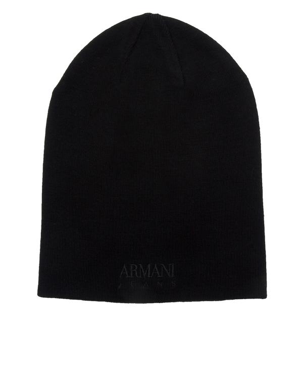 шапка двусторонняя с вышивкой названия бренда артикул 934036 марки ARMANI JEANS купить за 5700 руб.