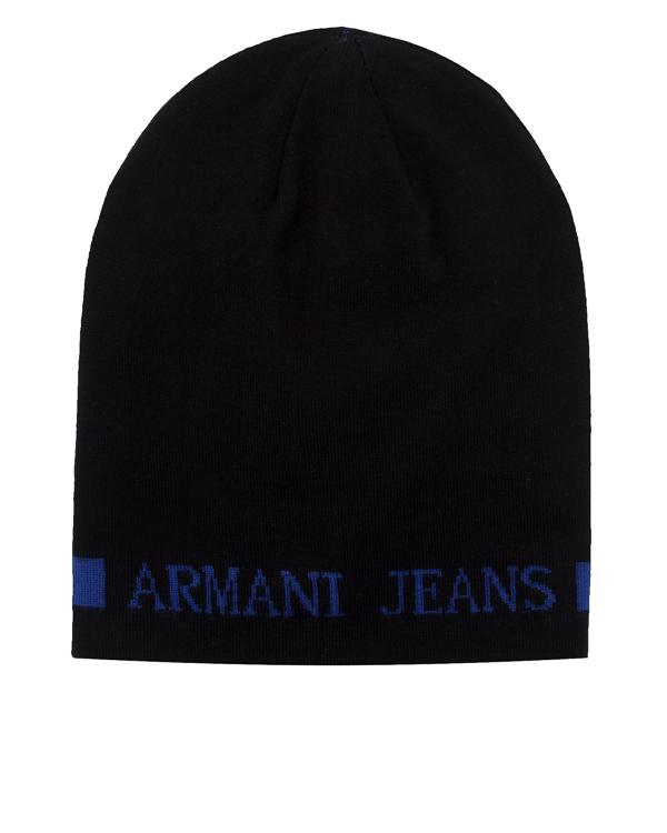 шапка двусторонняя с логотипом бренда артикул 934112 марки ARMANI JEANS купить за 6500 руб.