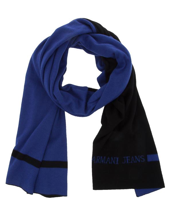 шарф из мягкой трикотажной шерсти артикул 934113 марки ARMANI JEANS купить за 11000 руб.