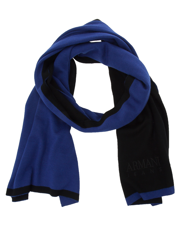 шарф из мягкой трикотажной шерсти  артикул 934114 марки ARMANI JEANS купить за 11000 руб.