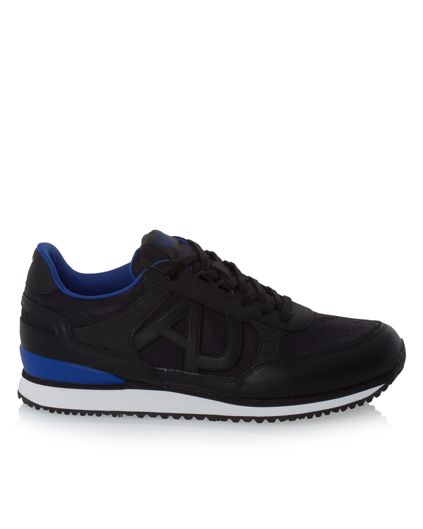 кроссовки из плотной кожи и текстиля с логотипом бренда  артикул 935028A марки ARMANI JEANS купить за 13500 руб.