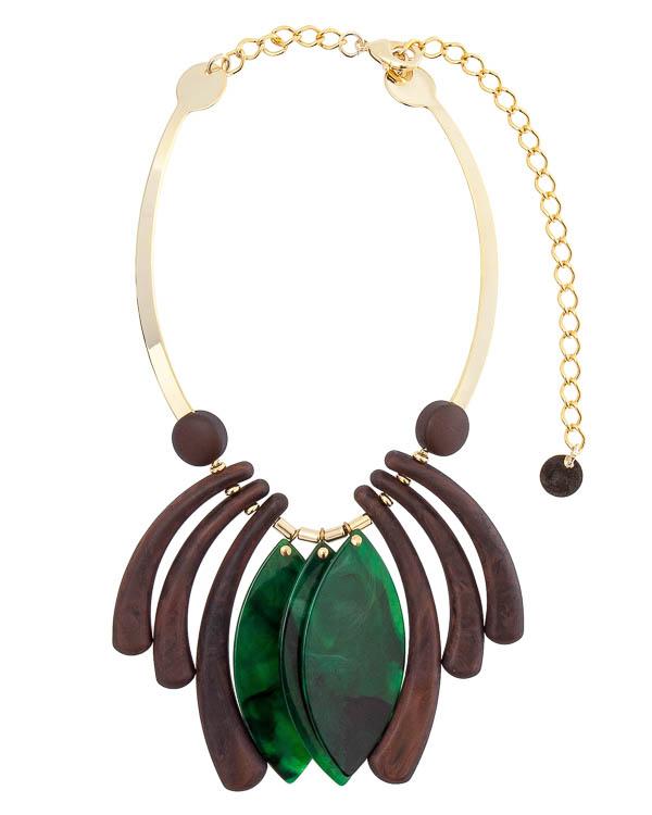 ожерелье с авангардными деталями артикул A14M марки Marina Fossati купить за 10800 руб.