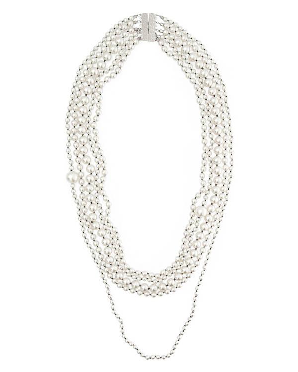 бусы из декоративного жемчуга артикул A4MF17 марки Marina Fossati купить за 13500 руб.
