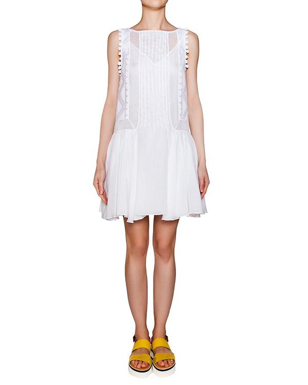 платье из легкой ткани с вышивкой артикул A581 марки DONDUP купить за 26800 руб.