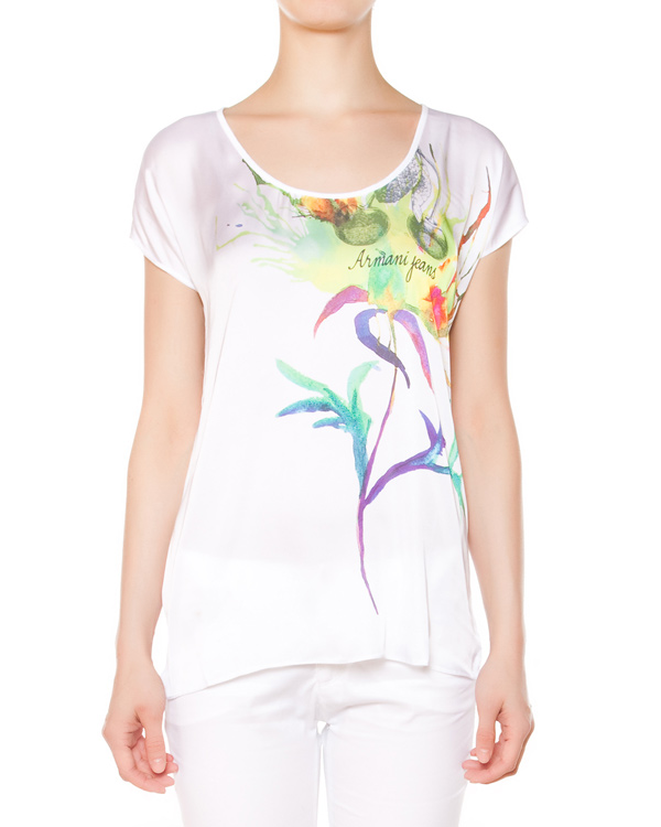 женская футболка ARMANI JEANS, сезон: лето 2015. Купить за 5700 руб. | Фото 1