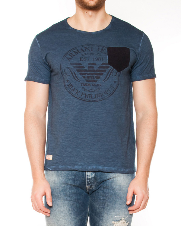 мужская футболка ARMANI JEANS, сезон: лето 2015. Купить за 5700 руб. | Фото 1
