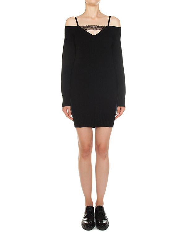 платье из трикотажной шерсти с добавлением кашемира артикул A728 марки DONDUP купить за 22400 руб.