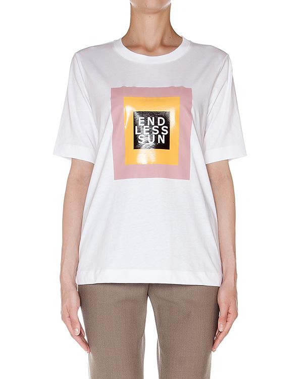 футболка из хлопкового трикотажа с принтом артикул AASS16J02AN марки AALTO купить за 6700 руб.