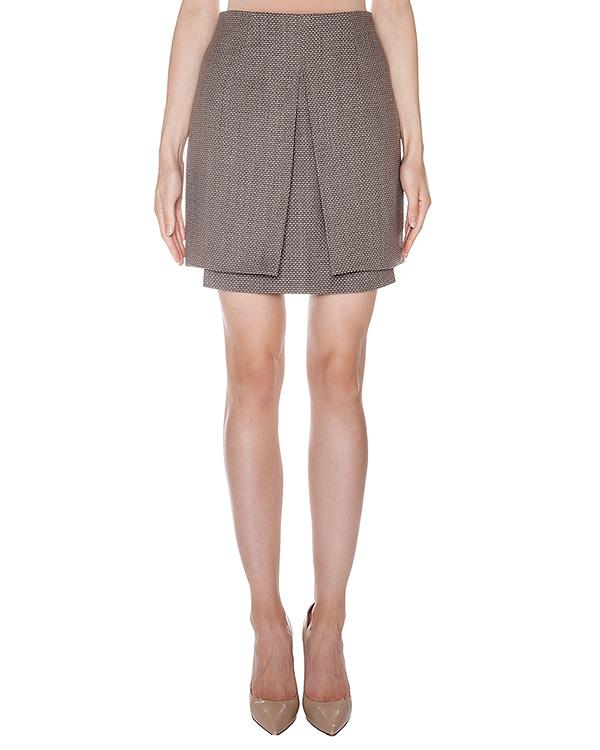 юбка из вирджинской шерсти и хлопка артикул AASS16SK02 марки AALTO купить за 10600 руб.
