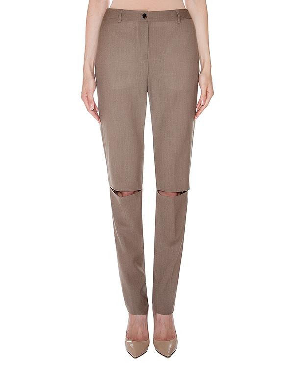 брюки прямого кроя из мягкой шерсти с прорезями на коленях артикул AASS16TRSH02 марки AALTO купить за 17200 руб.
