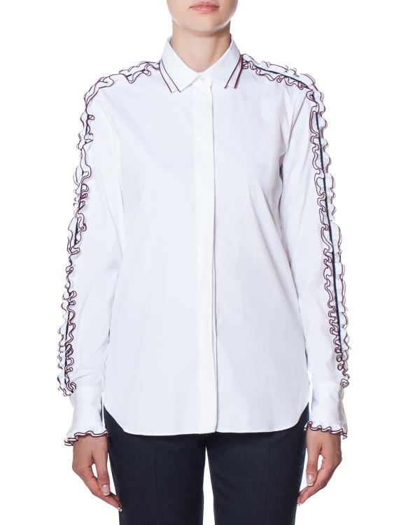 рубашка из хлопка с отделкой рюшами артикул AG1018 марки Mantu купить за 34900 руб.