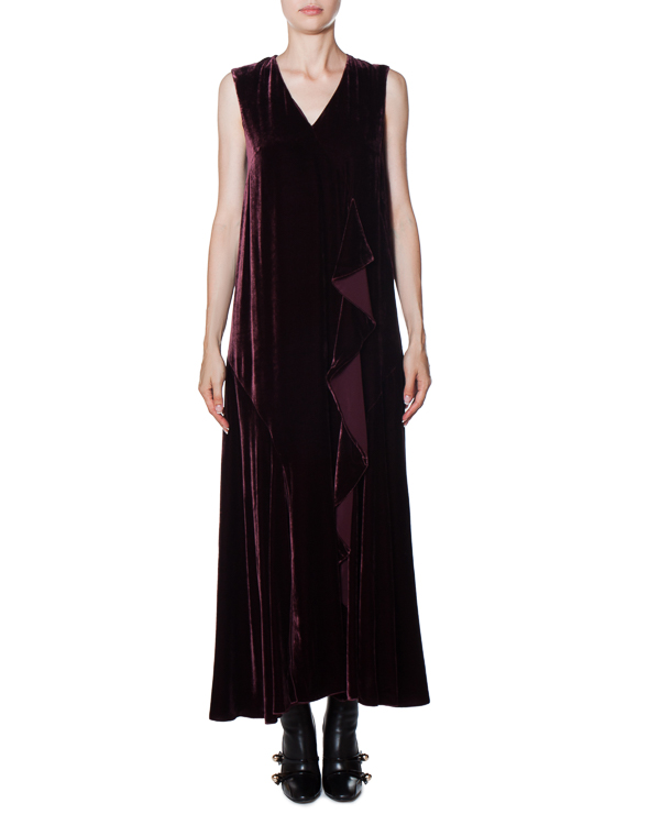 платье макси из бархата глубокого винного оттенка артикул AG5005 марки Mantu купить за 76200 руб.