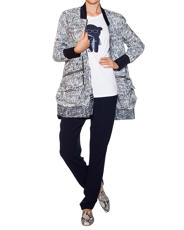 женская брюки EMPORIO ARMANI, сезон: лето 2015. Купить за 9700 руб. | Фото 3