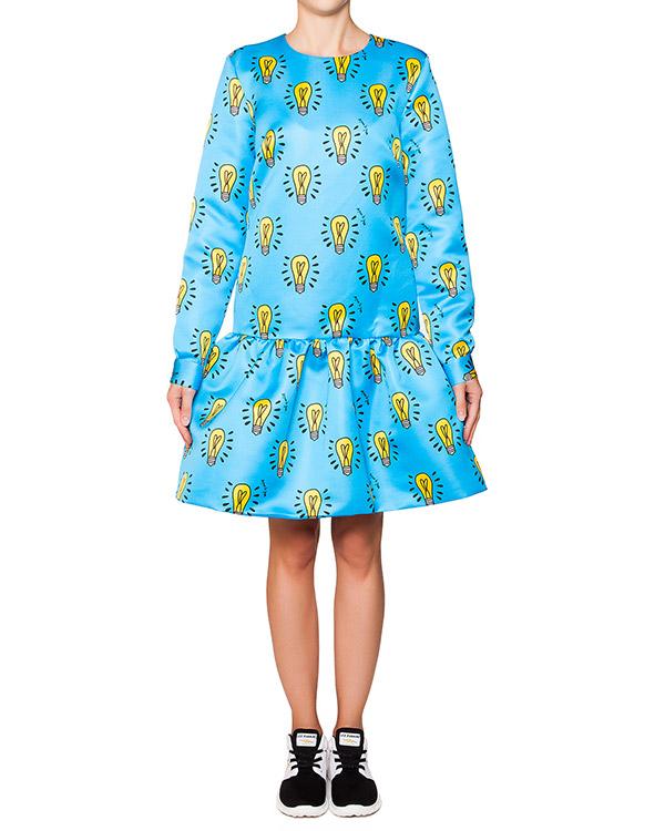 платье пышное из плотного хлопка с принтом в виде лампочек артикул AJDRE10 марки Au Jour Le Jour купить за 22600 руб.