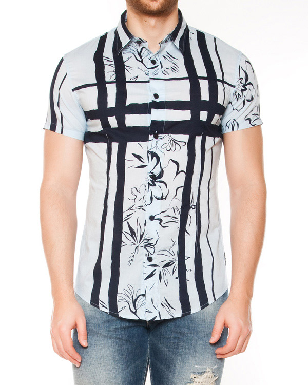 мужская рубашка ARMANI JEANS, сезон: лето 2015. Купить за 4700 руб. | Фото 1