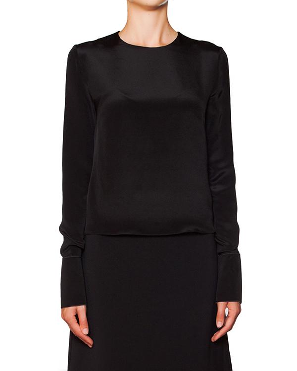 блуза из плотного блестящего шелка артикул B329-2 марки Roksanda Ilincic купить за 28800 руб.