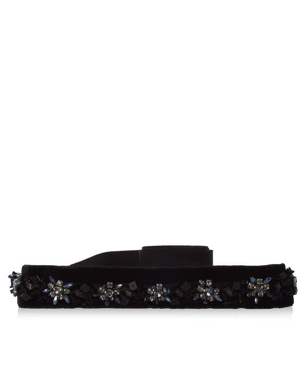 пояс из текстиля с кристаллами артикул B70550NDH марки Dice Kayek купить за 34100 руб.