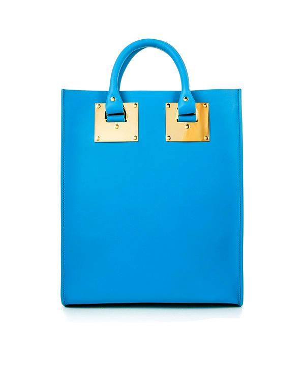 сумка из плотной матовой кожи с металлической фурнитурой артикул BG026LE марки Sophie Hulme купить за 34400 руб.