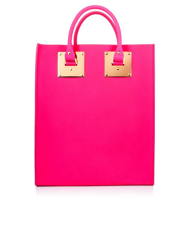 сумка из плотной матовой кожи с металлической фурнитурой артикул BG047LES марки Sophie Hulme купить за 39700 руб.