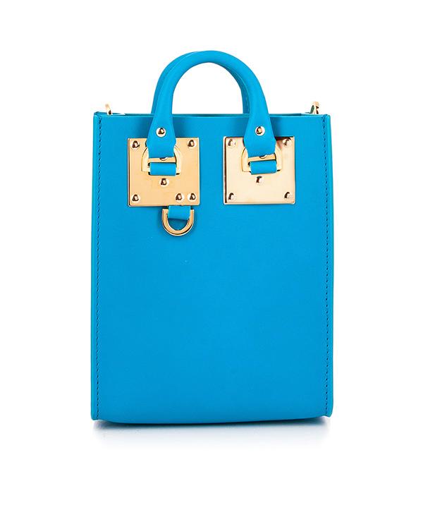 сумка из плотной матовой кожи с металлической фурнитурой артикул BG188LE марки Sophie Hulme купить за 19900 руб.