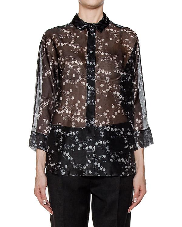 блуза из легкого полупрозрачного шелка с принтом артикул BL0533910 марки Graviteight купить за 24100 руб.