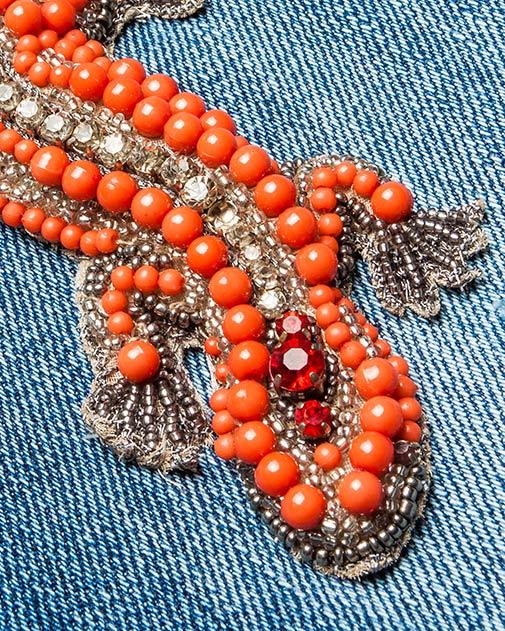 женская джинсы Amen, сезон: лето 2016. Купить за 41600 руб. | Фото 4