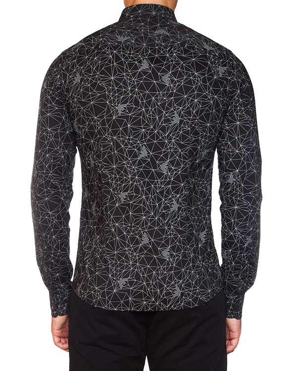 мужская рубашка ARMANI JEANS, сезон: зима 2015/16. Купить за 4100 руб.   Фото 2