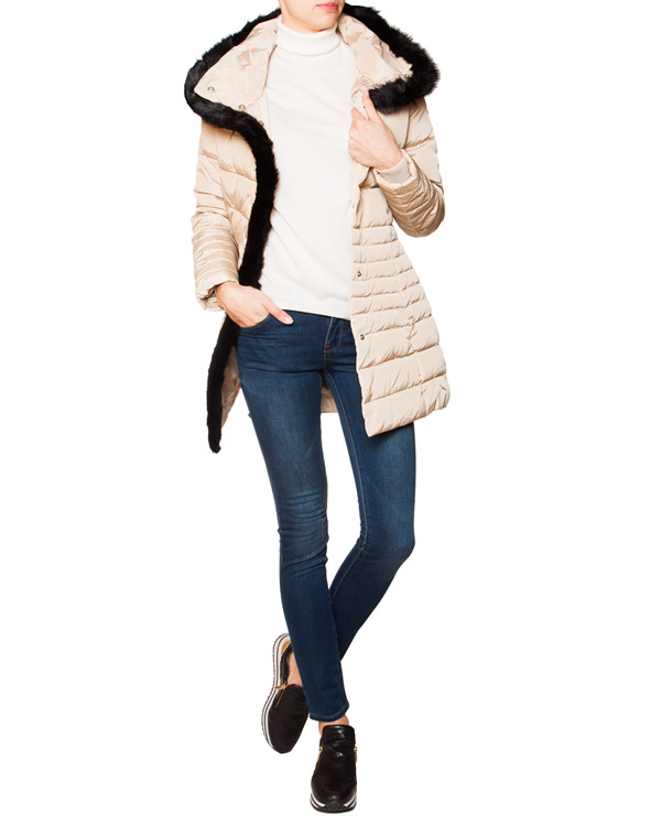 женская пуховик ARMANI JEANS, сезон: зима 2015/16. Купить за 14800 руб. | Фото 3