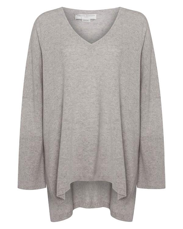 пуловер свободного силуэта из кашемира  артикул C1506 марки Amanda Wakeley купить за 34200 руб.
