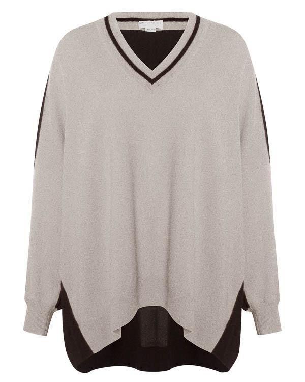 пуловер из кашемира с отделкой спины  артикул C1542 марки Amanda Wakeley купить за 42800 руб.