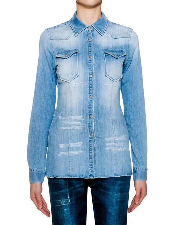 рубашка из потертого денима  артикул C515 марки DONDUP купить за 10900 руб.