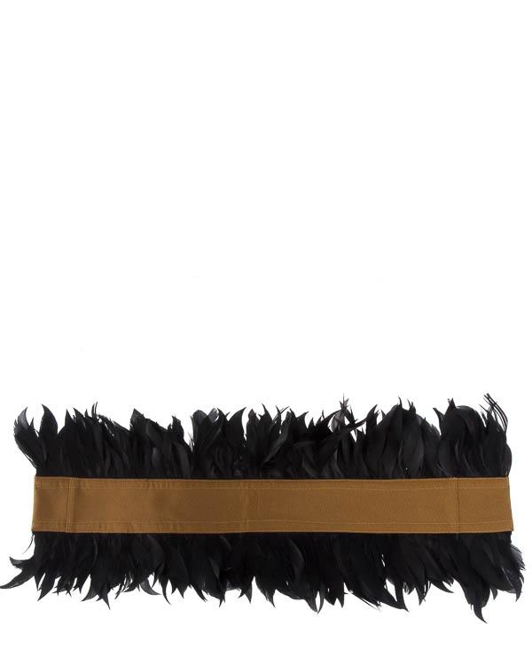 пояс  из текстиля с отделкой перьями  артикул C5FW17G2 марки Sara Roka купить за 12500 руб.