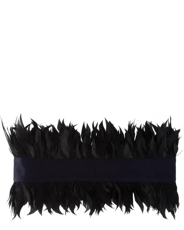 пояс  из текстиля с отделкой перьями  артикул C5FW17J2 марки Sara Roka купить за 12500 руб.