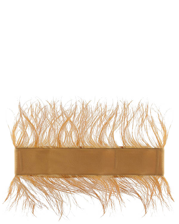 пояс из текстиля с отделкой перьями артикул C7FW17E2 марки Sara Roka купить за 15800 руб.