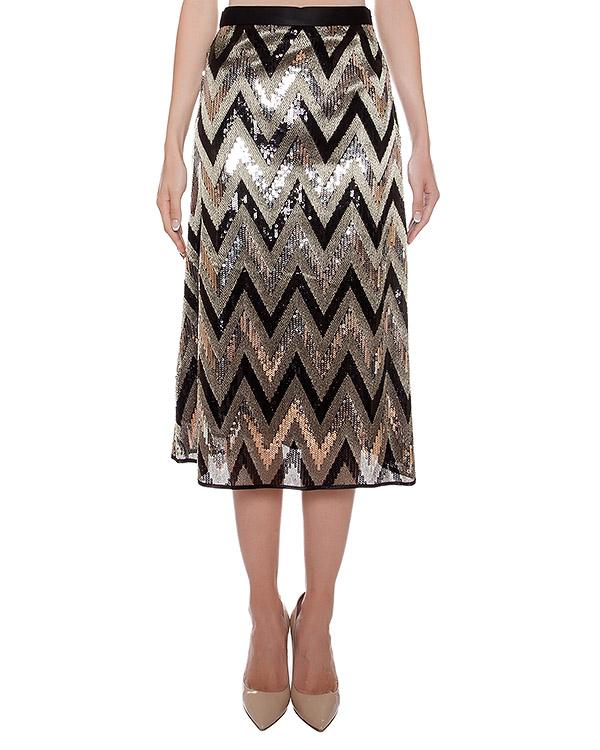 юбка расшитая пайетками артикул CA6GO0501 марки Simona Corsellini купить за 7900 руб.