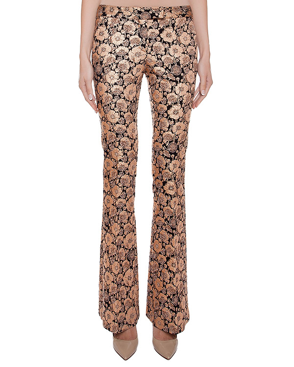 брюки расклешенные, из эластичной ткани с цветочными узорами артикул CA6PA0302 марки Simona Corsellini купить за 10200 руб.