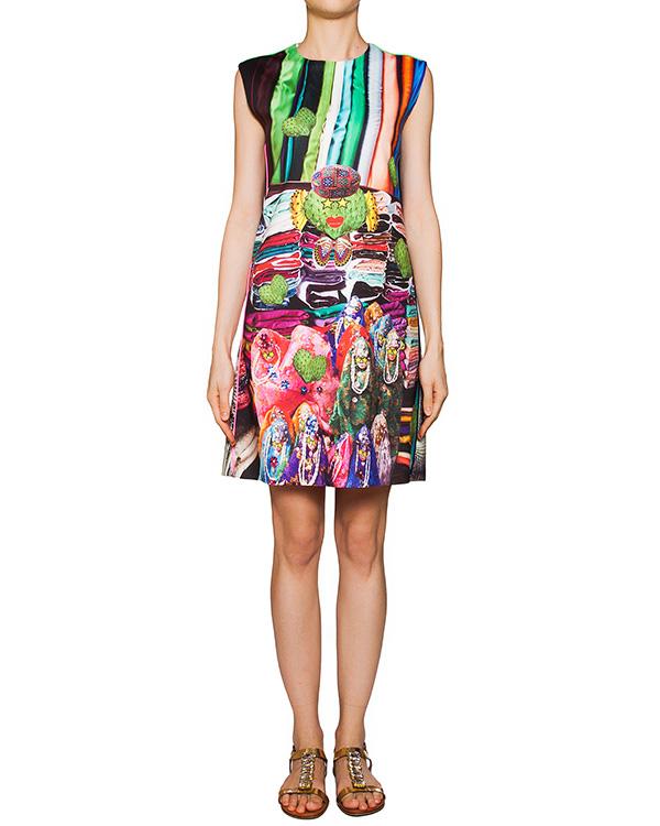 платье из тонкой эластичной ткани с ярким абстрактным рисунком артикул CACTUS марки The Artistylist купить за 19600 руб.