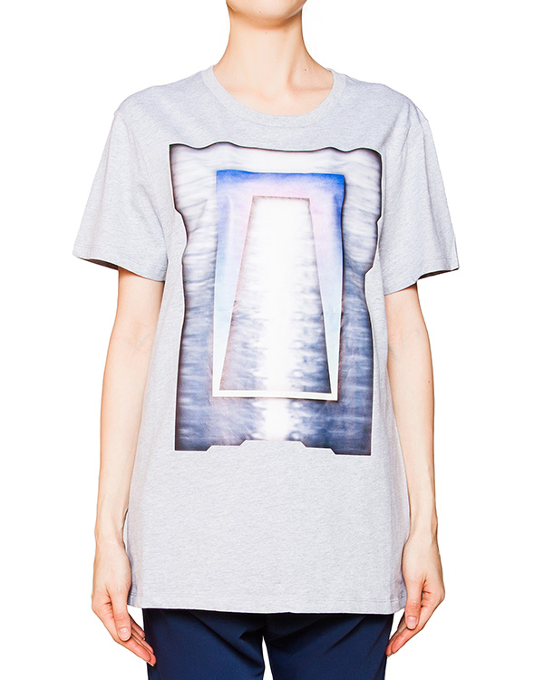 футболка из мягкого хлопка с ярким принтом артикул CCU153151 марки Cocurata купить за 3800 руб.