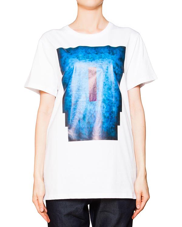 футболка из мягкого хлопка с ярким принтом артикул CCU153152 марки Cocurata купить за 4200 руб.