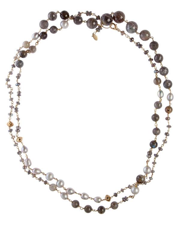 бусы из натуральных камней и жемчуга артикул CD0587/17G марки Rocca Florentina купить за 24700 руб.