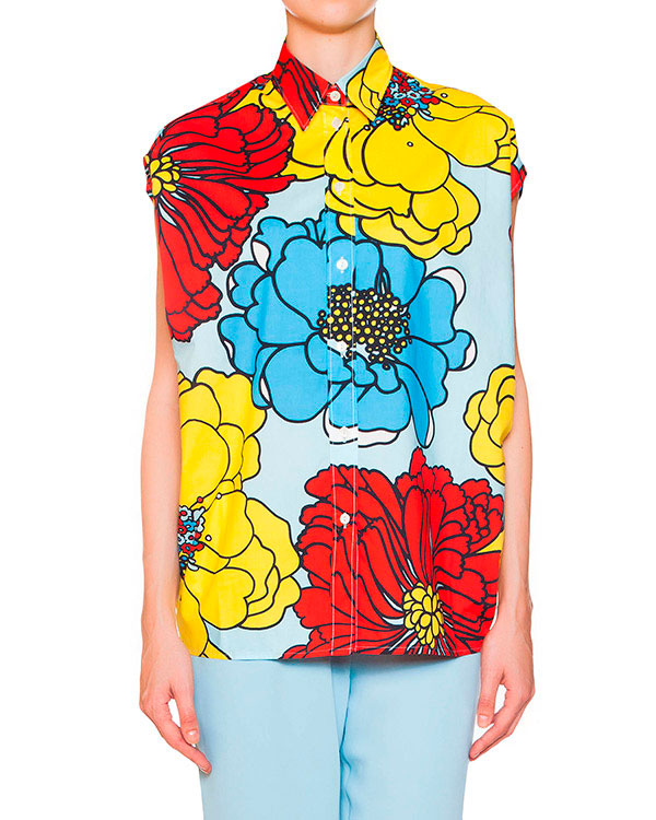 женская блуза P.A.R.O.S.H., сезон: лето 2015. Купить за 8700 руб. | Фото $i