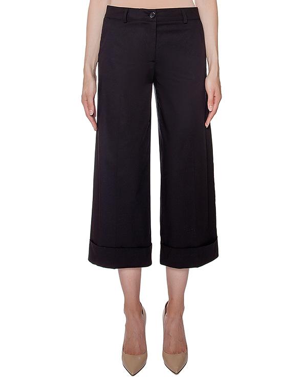 брюки кюлоты с отворотами; из тонкого хлопка артикул CLAY230095 марки P.A.R.O.S.H. купить за 5900 руб.