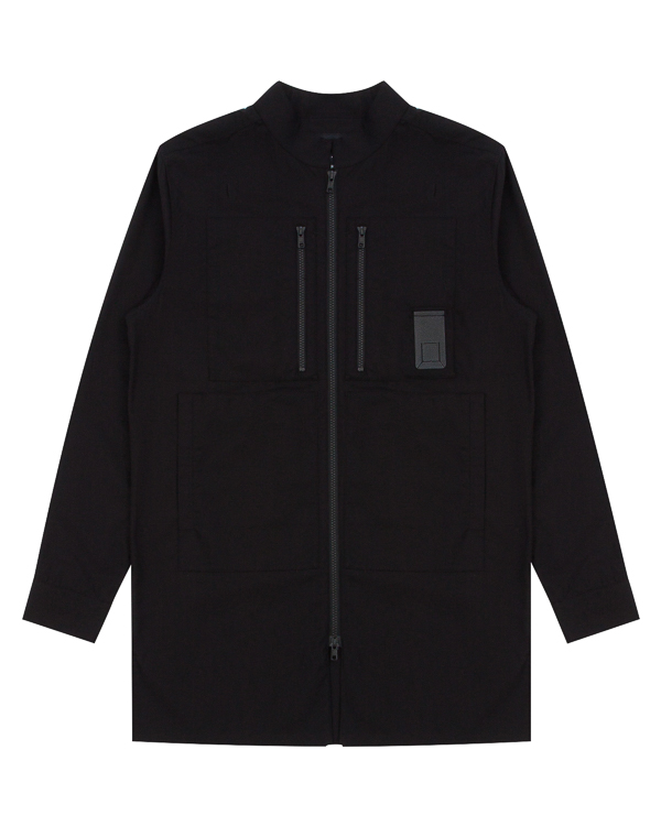 рубашка из хлопка на молнии артикул CNTSHI01 марки Letasca купить за 17500 руб.