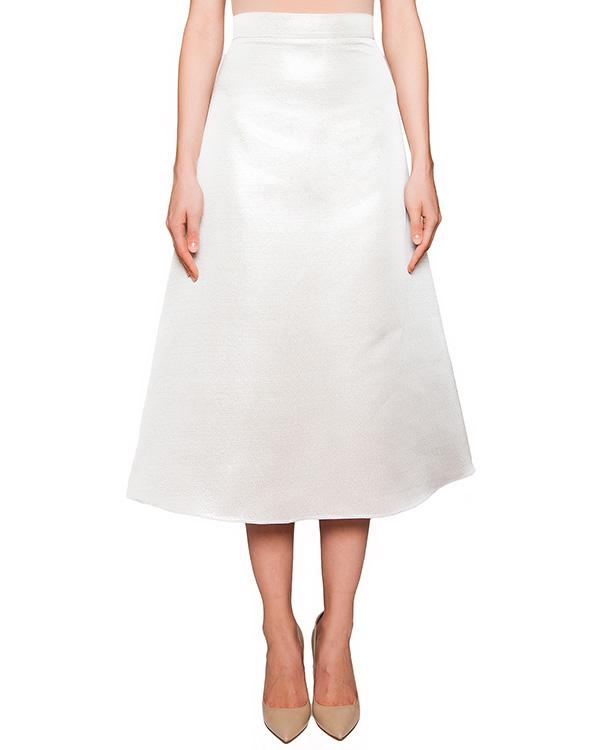 юбка из плотного фактурного материала серебристого цвета артикул COAT0000384 марки Kalmanovich купить за 24200 руб.